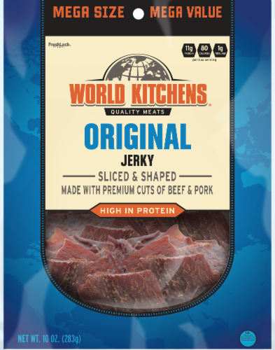 World Kitchen Old Fashioned Beef Jerky Perspective: front