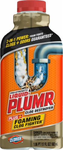 Liquid-Plumr® Pro-Strength Clog Destroyer Plus Foaming Clog Fighter Perspective: front