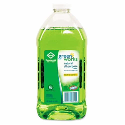 Green Works All-Purpose Cleaner - Liquid - 64fl oz - 1 Each - Green - Refill Perspective: front