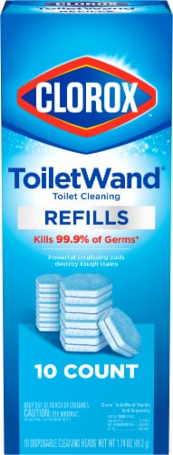 Clorox Disinfecting Toilet Wand Refills 10 Count Perspective: front