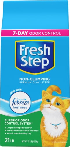 Fresh Step with Febreze Freshness Non-Clumping Clay Cat Litter Perspective: front