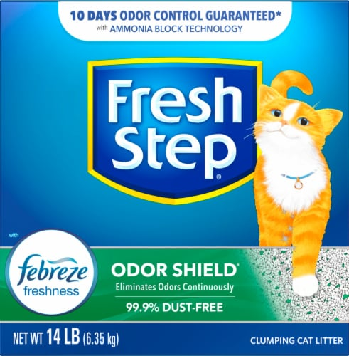 Fresh Step Odor Shield with Febreze Freshness Clumping Cat Litter Perspective: front