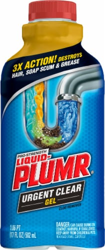 Liquid-Plumr Urgent Clear Clog Destroyer / Remover Perspective: front