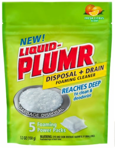 Liquid-Plumr Fresh Citrus Scented Disposal & Drain Foaming Cleaner Perspective: front