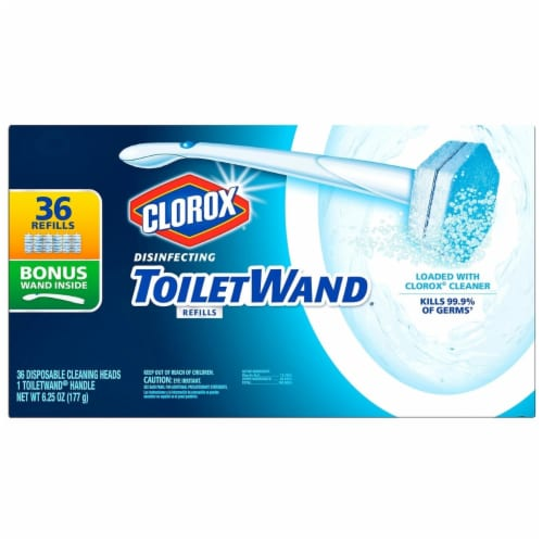 Clorox ToiletWand Refills + Wand - 36 Count Perspective: front