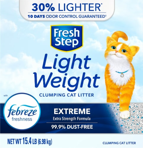 Fresh Step Light Weight Extreme Clumping Cat Litter with Febreze Perspective: front
