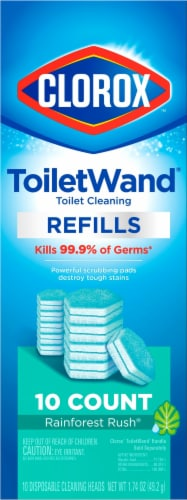 Clorox Toilet Rainforest Wand Refills 10 Count Perspective: front