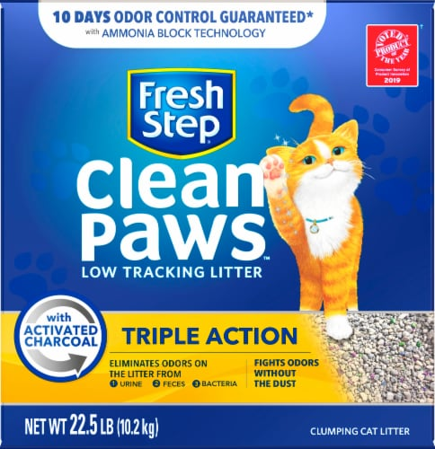 Fresh Step Clean Paws Triple Action Low Tracking Clumping Cat Litter Perspective: front
