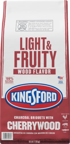 Kingsford Light & Fruity Wood Flavor Cherrywood Charcoal Briquets Perspective: front