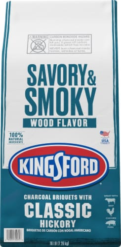 Kingsford Savory & Smoky Wood Flavor Classic Hickory Charcoal Briquets Perspective: front