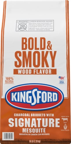 Kingsford Bold & Smoky Wood Flavor Signature Mesquite Charcoal Briquets Perspective: front
