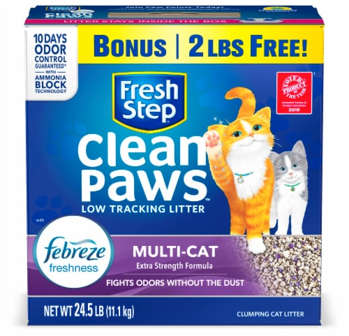 Fresh Step® Clean Paws™ Multi-Cat Febreze Scented Clumping Cat Litter Perspective: front