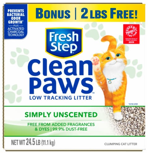 Fresh Step® Clean Paws™ Multi-Cat Unscented Clumping Cat Litter Perspective: front