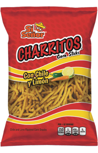 Si Senor Charritos Cron Sticks Con Chile with Limon Perspective: front