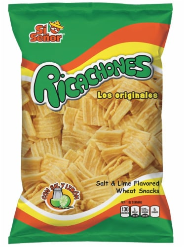 Si Senor Salt & Lime Flavored Ricachones Wheat Snack Perspective: front
