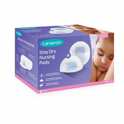 Lansinoh Stay Dry Disposable Nursing Pads Perspective: front