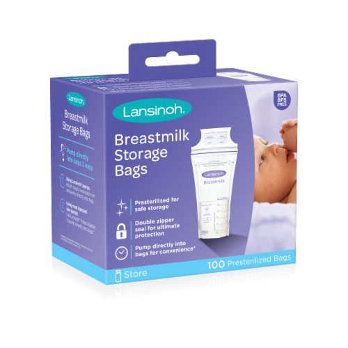 Lansinoh Breastmilk Storage Bags Perspective: front