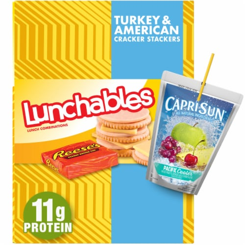 Lunchables Lunch Combinations Turkey & American Cracker Stackers Perspective: front