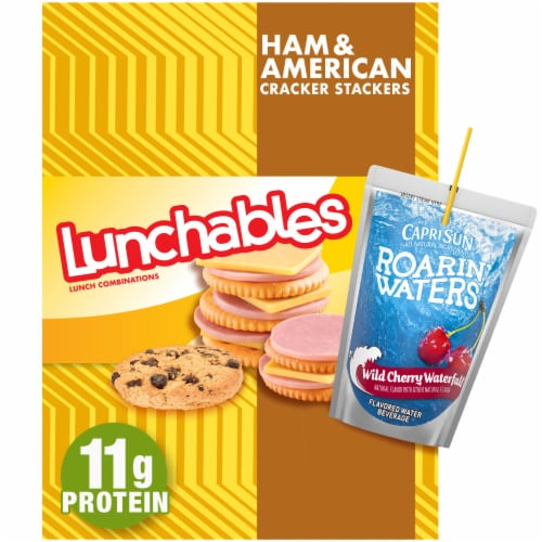 Lunchables Ham & American Cracker Stackers Perspective: front