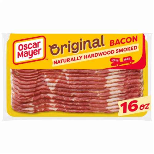 Oscar Mayer Gluten Free Naturally Hardwood Smoked Bacon Perspective: front