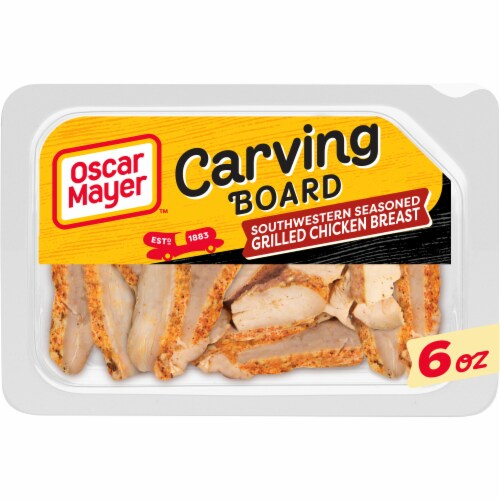 Oscar Mayer Carving Board Southwestern Seasoned Grilled Chicken Breast Strips Perspective: front