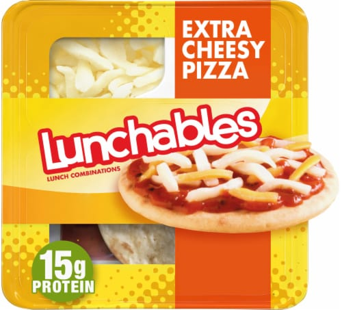 Lunchables Extra Cheesy Pizza Perspective: front
