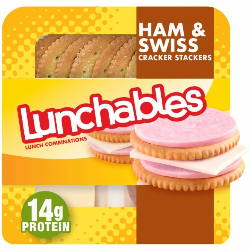 Lunchables Ham & Swiss with Crackers Perspective: front