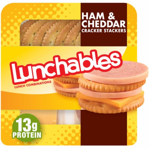 Lunchables Ham & Cheddar with Crackers Perspective: front