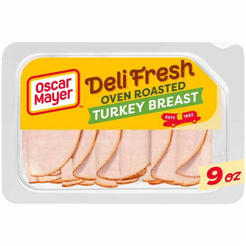 Oscar Mayer Deli Fresh Gluten Free Oven Roasted Turkey Breast Lunch Meat Perspective: front