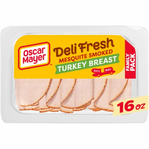 Oscar Mayer Deli Fresh Mesquite Smoked Turkey Breast Perspective: front