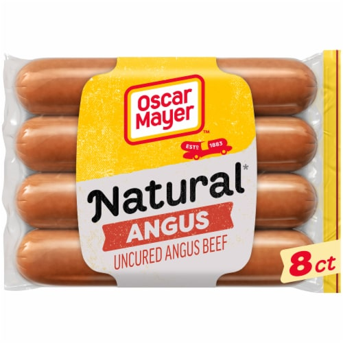 Oscar Mayer Selects Natural Angus Beef Franks Perspective: front