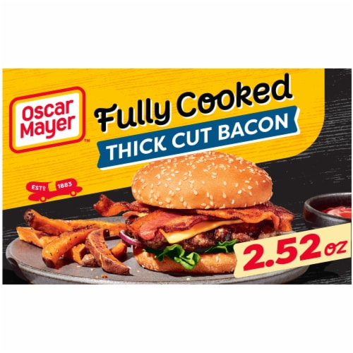 Oscar Mayer Fully Cooked Thick Cut Bacon Perspective: front
