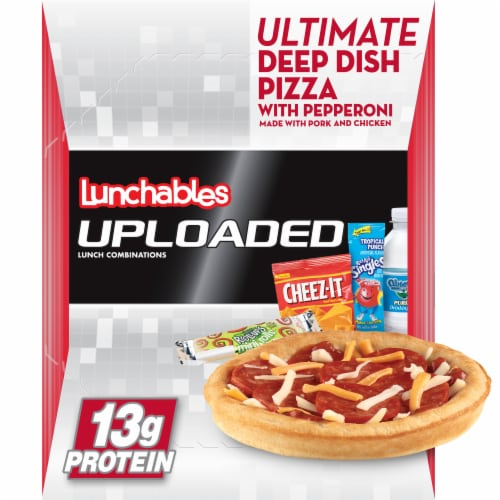 Lunchables Uploaded Ultimate Deep Dish Pepperoni Pizza Convenience Meal Perspective: front