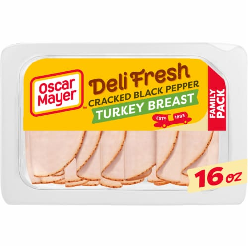 Oscar Mayer Deli Fresh Cracked Black Pepper Turkey Breast Family Size Perspective: front