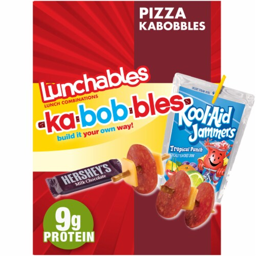 Lunchables Kabobbles Pepperoni & Cheese Pizza Perspective: front