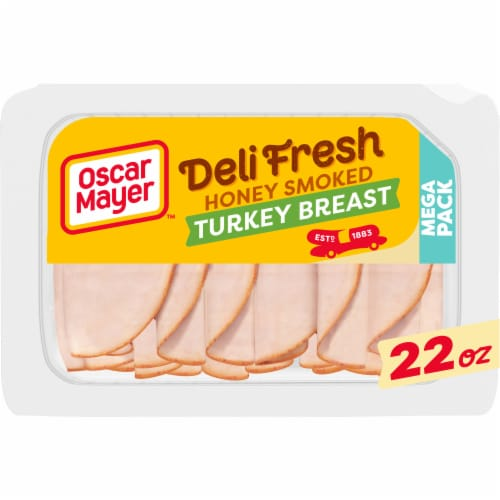 Oscar Mayer Deli Fresh Honey Smoked Turkey Breast Lunch Meat Perspective: front