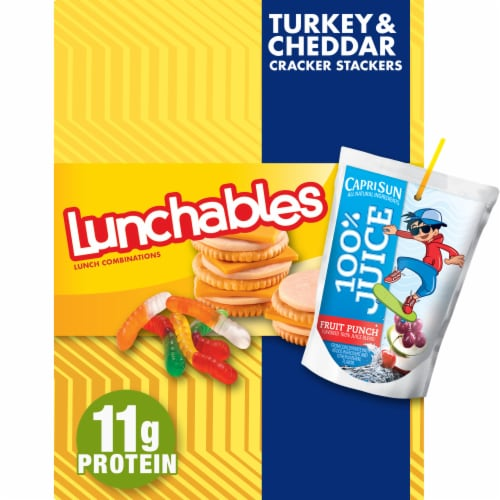 Lunchables Turkey & Cheddar Cracker Stackers Perspective: front