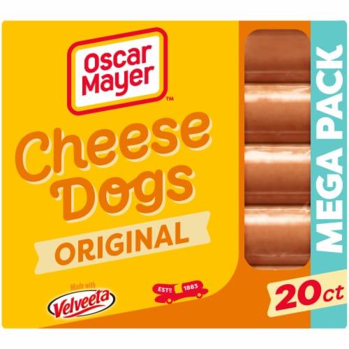 Oscar Mayer Uncured Velveeta Cheese Dogs Perspective: front