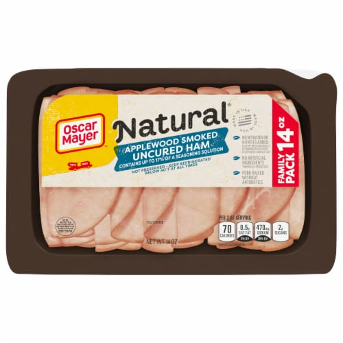 Oscar Mayer Natural Apple wood Smoked Uncured Ham Perspective: front