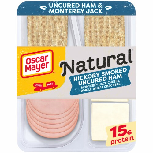 Oscar Mayer™ Natural Hickory Smoked Uncured Ham Monterey Jack Cheese & Crackers Snack Pack Perspective: front