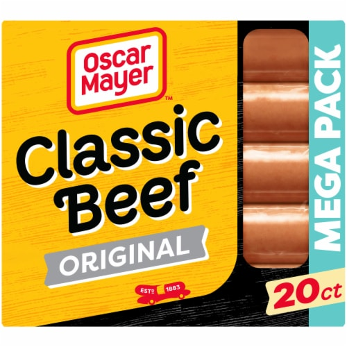 Oscar Mayer Classic Beef Uncured Franks Hot Dogs Perspective: front
