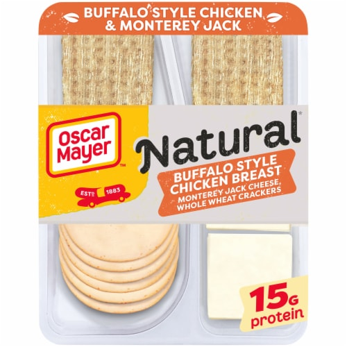 Oscar Mayer Natural Buffalo Style Chicken Monterey Jack Cheese & Crackers Snack Pack Perspective: front