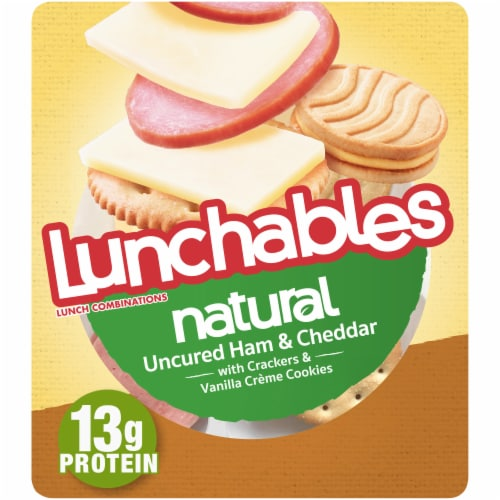 Lunchables Natural Uncured Ham & Cheddar Cheese Lunch Pack Perspective: front