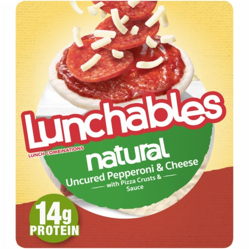 Lunchables Natural Uncured Pepperoni & Cheese Pizza Perspective: front