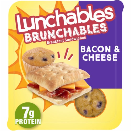 Lunchables Brunchables Bacon & Cheese Breakfast Sandwiches Perspective: front