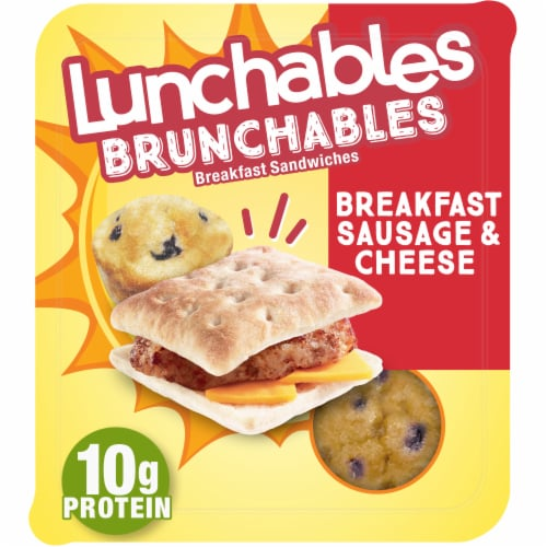 Lunchables Brunchables Breakfast Sausage and Cheese Sandwiches Perspective: front