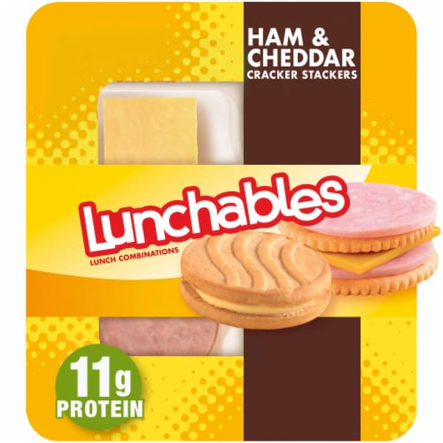 Lunchables Ham & Cheddar Cracker Stackers Perspective: front