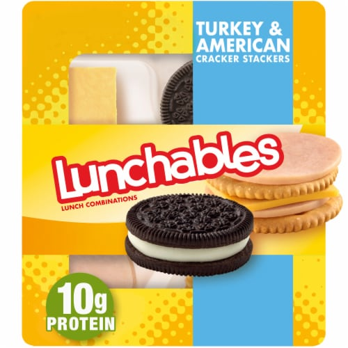 Lunchables Turkey & American Cracker Stackers Perspective: front