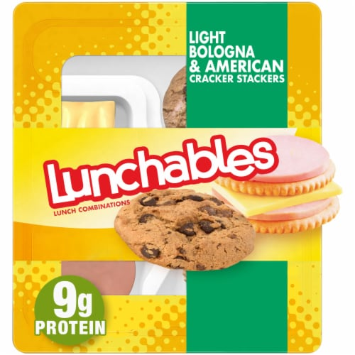 Lunchables Light Bologna & American Cracker Stackers Perspective: front