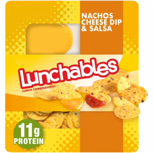 Lunchables Nachos Cheese Dip & Salsa Perspective: front